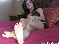 Foot Fetish Addiction brings you a hell of a free porn video where you can kneel and worship these dommes very sexy feet while they flaunt their very alluring bodies.