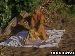 CDI Digital brings you a hell of a free porn video where you can see how a vintage blonde slut gets banged on the beach while assuming some very interesting poses.