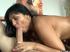 Courtesy of Cum Louder you can see the alluring brunette Jasmine Black as she gets banged into kingdom come while assuming some very interesting poses in this free porn video.