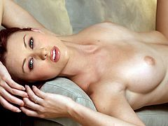 Redhead babe Karlie Montana poses totally naked