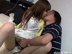 Amazing Japanese girl and her man have oral sex in 69 position. Then the man drives his weiner into the chick's sweet pussy and drills it in cowgirl and from behind.