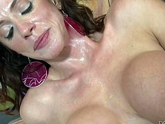 When Ariella is fucked hard and fast she sprays warm pussy liquid all over the place. Today you will get to see her do just that. She sucks the cock to get it nice and wet then puts it inside her. She rides reverse cowgirl and leaks her cum all over his cock then gets back to more dick sucking.