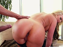 Karlo Karrera sucks Phoenix Marie's hard and perky nipples