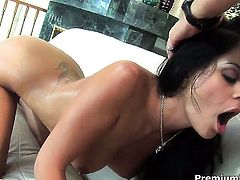 Warm senorita minx Mikayla Mendez satisfies mans sexual needs and desires and then gets jizz covered
