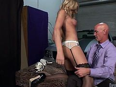 Rich office stud hooks up cocky shemale prostitute. Ladyboy gives blowjob to her client in his fancy Mustang and gets her dick sucked at his house.