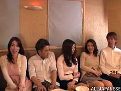 Check out this hardcore scene where these sexy Asian babes are nailed by guys in a group sex you really do not want to miss.