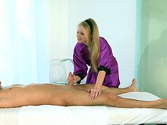 Talented Avril Hall makes magic with her warm lips during nasty and sensual erotic massage