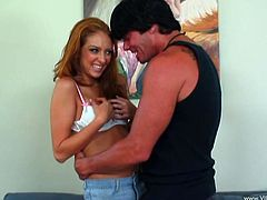 Man, this sizzling and horny one Stephanie Kane is so damn hungry! She gives a filthy blowjob and then gets penetrated.