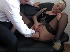 Bossy honey fist bumped till she squirts