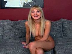 Susan's strapon fuck in casting. She  has one of those perfect, all natural bodies that most women would die for. Small, pert tits with nice firm nipples, flat stomach and an arse that cries out for attention.