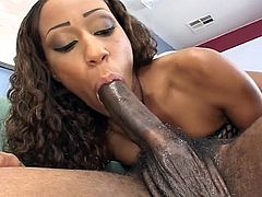 Watch as this sweet ebony pussy gets stretched really hard by this filthy monster black boner for maximum pleasuring.
