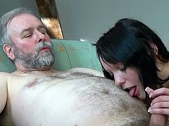Young Black Angel is way to greedy and nasty when it comes to sucking and fucking her step dad