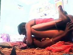 Kinky and filthy Indian dark haired slut with nice body and sexy legs gets her pussy fucked mish. Have a look in steamy The Indian porn sex video.
