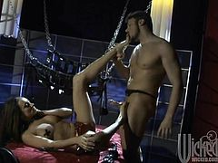 Amazing anal sex with the slutty brunette Michelle Lay