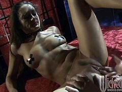 Make sure you have a look at this hardcore scene where the slutty Michelle Lay has her tight asshole drilled by this guy's thick cock.