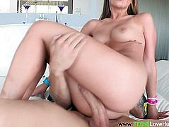 Young Teddi Rae riding huge dick