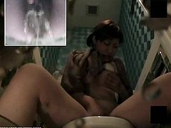 Check out this horny asian slut masturbating her hairy pussy in the toilet. What she doesn't know is that she is being recorded by the spy cam!