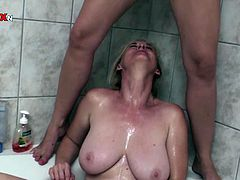 Light haired bosomy bitch posed doggy style on sofa and enjoyed getting her loose asshole fisted hard. Then that kinky whore got presented golden rain from her torrid friend. Enjoy that disgusting lesbo fuck in Porn XN sex video!