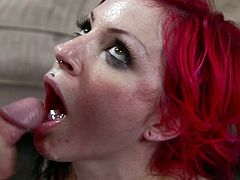 Harsh penetration for babe's tight vag