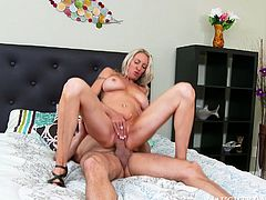 Busty cougar Emma Starr rides Preston Parker's cock like a cowgirl