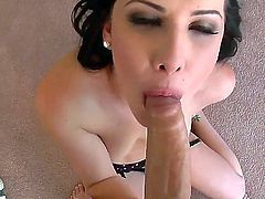 Katie St. Ives isn't that saint at all when doing a nice blowjob