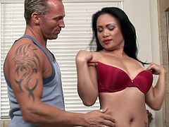 Mya Luanna's soft hands are making true magic during insolent and full of lust erotic massage scene
