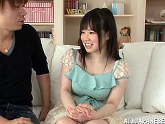 Lusty and kinky Japanese siren Sayuri Honjiyou is here to have some wild sex and enjoy orgasm. She gives a nice head and then the missionary starts.