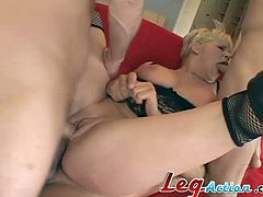 Gorgeous blond siren Missy Monroe is getting naked to have a wild foursome with a lot of men! She gets three cocks and it's going to be so fucking hot!
