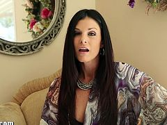 Stunning MILF babe India Summer is ready to show her amazing oral skills in the POV style. She is ready for some serious gagging and swallows big sticky load.