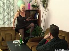 My Wifes Mom brings you a hell of a free porn video where you can see how this vicious mature blonde gets fucked by her son-in-law into a breathtakingly intense orgasm.
