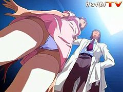 Have a good time watching this anime video where disgusting shit happens! This babe gets mistreated by a nasty doctor who likes her fluids a lot!