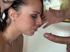 Fetish blowjob for young amateur chick