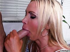Nikki Benz with big butt gives suck job to hot bang buddy