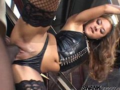 Intense interracial sex with the slutty Kaylani Lei