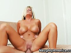 Seth Gamble is horny and cant wait any more to slam dangerously sexy Kristal Summerss pussy