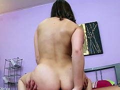 Hot brunette Remy Lacroix stuffed with fat cock