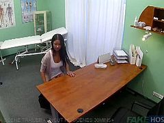 Young slut fucked in the clinic. This babe walks in for her physical exams. What was supposed to be a legitimate business turned to be as fervent as could be.