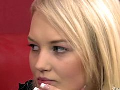 Blond bodacious lassie Withney got interviewed by slutty woman