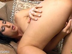 Eat Sleep Porn brings you a hell of a free porn video where you can see how the vicious brunette Latina milf Luscious Lopez gets her tight butt fucked into a massive anal orgasm.