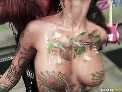Tory Lane and Bonnie Rotten are ready for some hardcore lesbian action. Watch them using various toys to penetrate their tight holes and squirt together for ya'll.