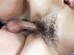 Breathtakingly beautiful seductress Katie Angel finds man hot and takes his hard worm in her mouth