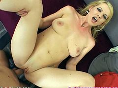 Anita Blue is a proprietress of amazingly big round booty and she is a real anal fanatic. Her poor booty hole gets drilled in missionary position. Then Anita takes that big dick up her cornhole in reverse cowgirl pose.