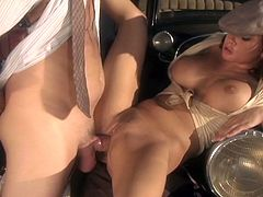 Check out this hardcore vintage video where the sexy brunette Tory Lane is fucked silly by a fella outdoors as you hear this busty babe moan.