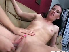She has totally screwed up at work and her horny boss decided to teach her tight pussy a lesson. Watch as she uses a toy and licks her to make her orgasm now.