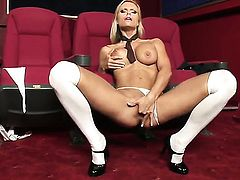 Gitta Szoke is horny as hell and fucks herself with sex toy with wild passion