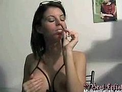 My Best Fetish brings you a hell of a free porn video where you can see how a hot brunette milf smokes and teases while assuming very interesting positions.