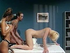Watch this super slutty chicks getting fucked in the bedroom of this perverted jerk in The Classic Porn sex clips.