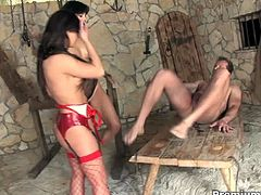 Horny sluts Jeny Baby and Aliz warming up outdoors before get in serious hard cock action! They got nailed hard in their tight holes!