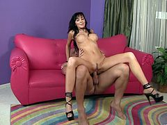 Diana is a MILF that loves big cocks. She pulls her legs back and gets her pussy fucked so deep and hard it takes her breath away.