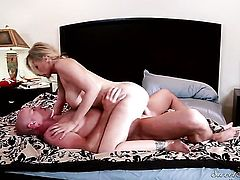 Vanessa Cage gagging on James Deens stiff man meat